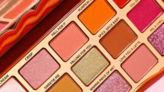 This Warm & Spicy Eye Shadow Palette From Too Faced Rings in Pumpkin Spice and Everything Nice
