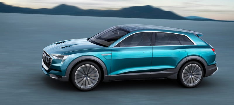 Illustration for article titled The Audi E-Tron Quattro Concept Is The Other Strike At Tesla In Crossover Form