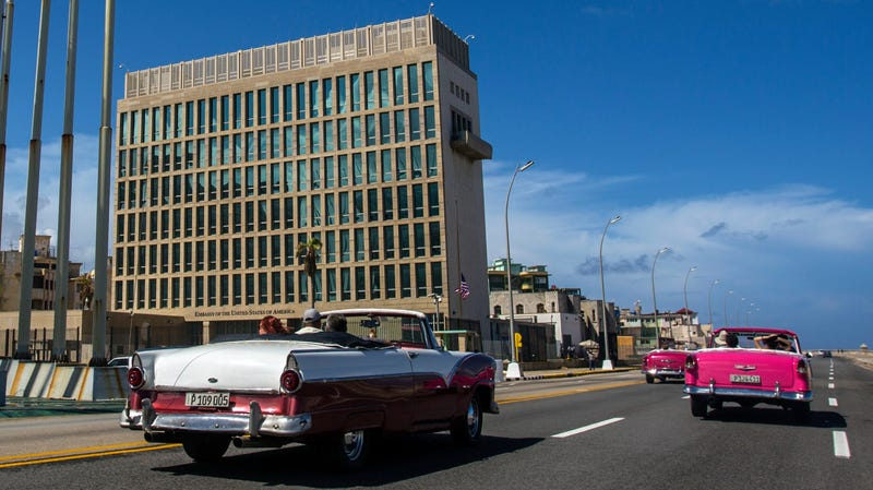 The U.S. embassy in Cuba.
