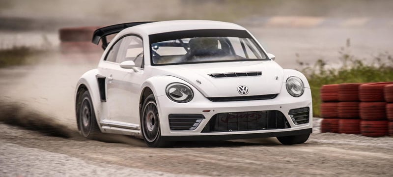 Illustration for article titled Volkswagen's New Rallycross Beetle Is Badass