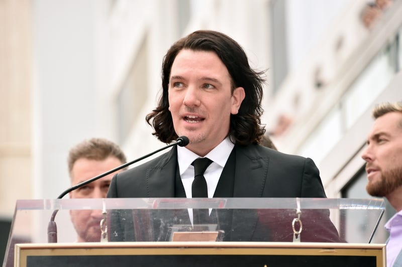 JC Chasez during the ceremony honoring NSYNC's star on the Hollywood Walk of Fame.