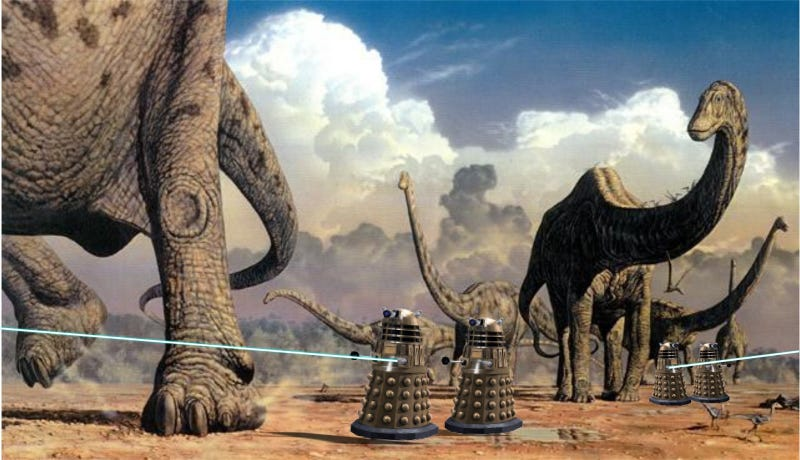 Illustration for article titled Why your dinosaurs are about to be killed by Daleks