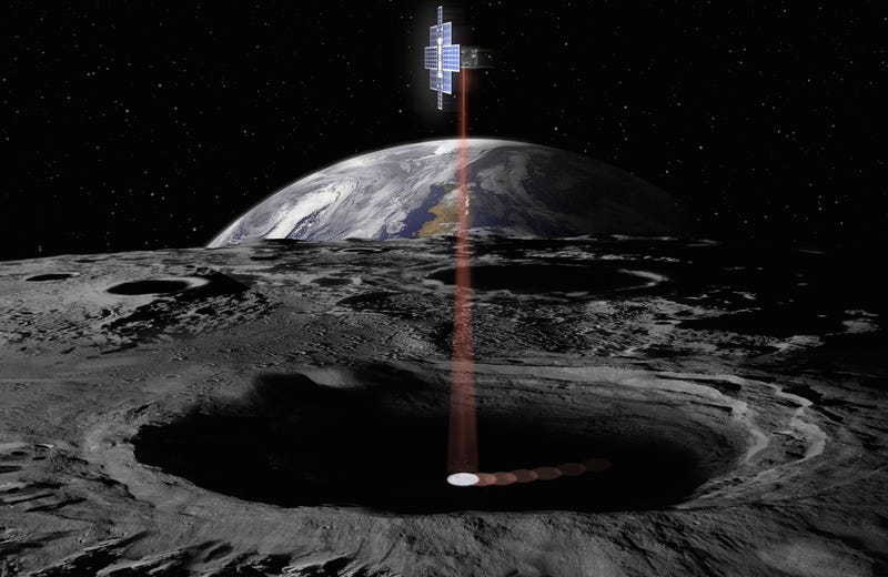 Illustration for article titled NASA's New Mission to Mars Will Include a Giant Laser 'Lunar Flashlight'