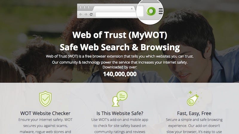 Illustration for article titled Web of Trust Sells Your Browsing History, Uninstall It Now