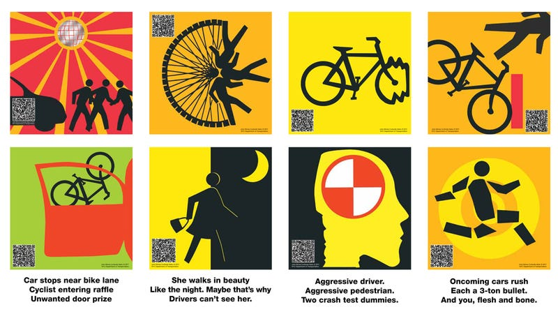 Illustration for article titled Where to find New York City's haiku crosswalk signs