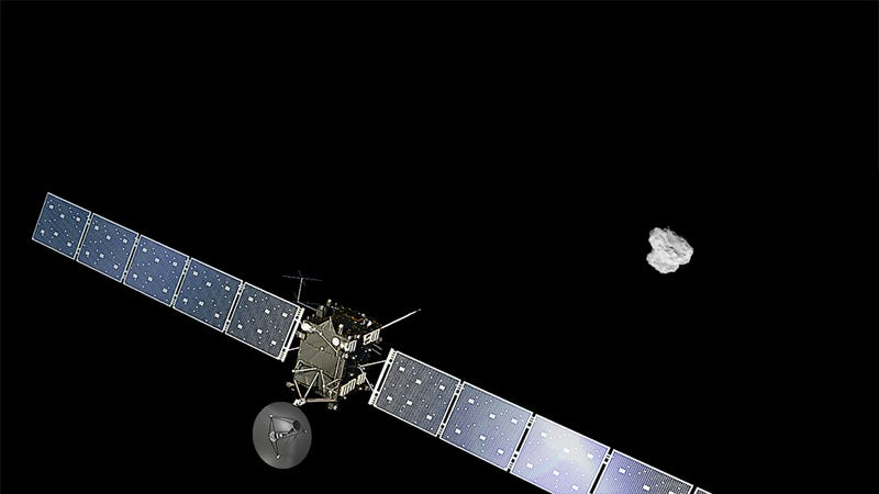 Rosetta arrived at the comet on August 4, 2014. (Image: ESA/ATG medialab/ESA/Rosetta/NAVCAM)