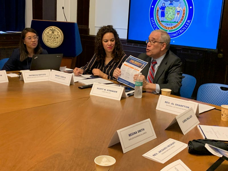 New York City Comptroller Scott Stringer speaking to a room of black business owners about his report. March 15, 2019