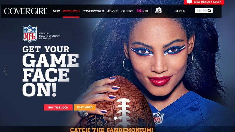 Illustration for article titled CoverGirl on NFL Sponsporship: We Support 'Female Empowerment'