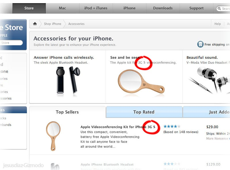 Illustration for article titled Apple Videoconferencing Kit Now Available for iPhone 3GS Too, ZOMG!