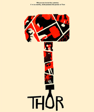 Illustration for article titled Mod Mjolnir: the Thor movie poster gets a 1960s retro treatment