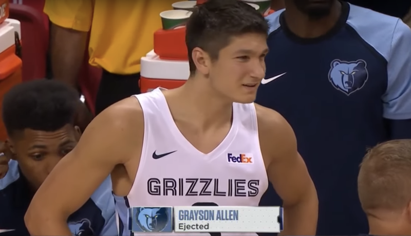 Illustration for article titled Grayson Allen Ejected From Summer League Game For, You Guessed It, Being A Goon