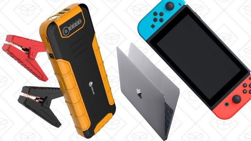 Batería de iClever USB-C PD con pinzas de arranque, $89 con el código STARTEPD