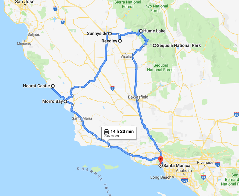 Illustration for article titled Central California Road Trip in a 2019 Mercedes-Benz G63 AMG begins Friday Night! Here the itinerary: