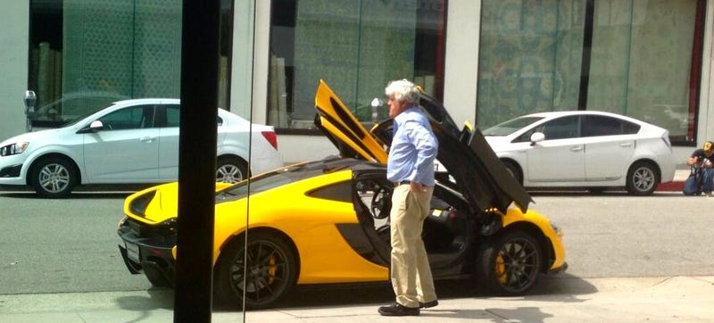 Illustration for article titled Jay Leno Didn't Wear Denim To Pick Up His McLaren P1