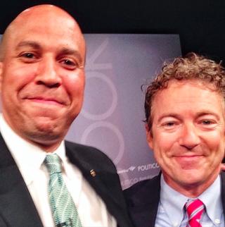 Selfie of Sen. Cory Booker (D-N.J.) and Sen. Rand Paul (R-Ky.)Instagram