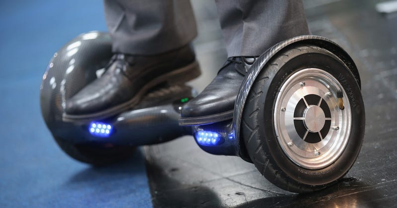 Hoverboard at the 2016 CeBIT digital technology trade fair in Germany (Photo by Sean Gallup/Getty Images)