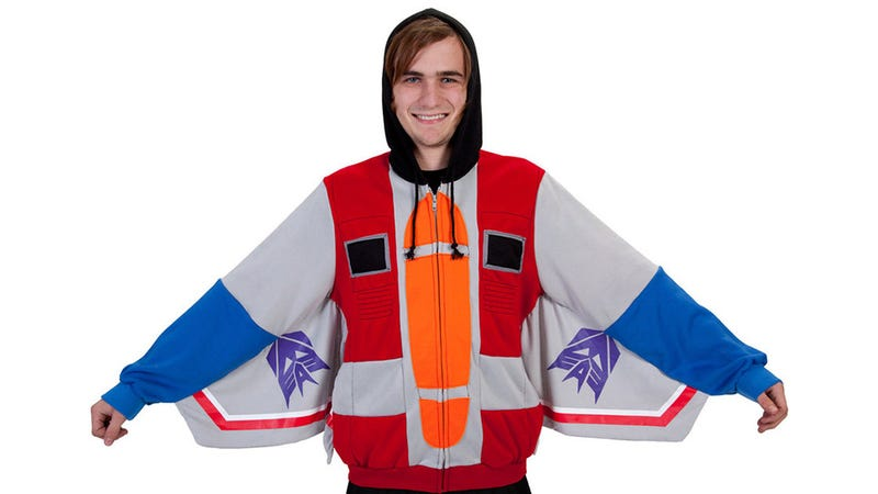 Illustration for article titled This Starscream Hoodie Will Transform What Your Co-Workers Think of You