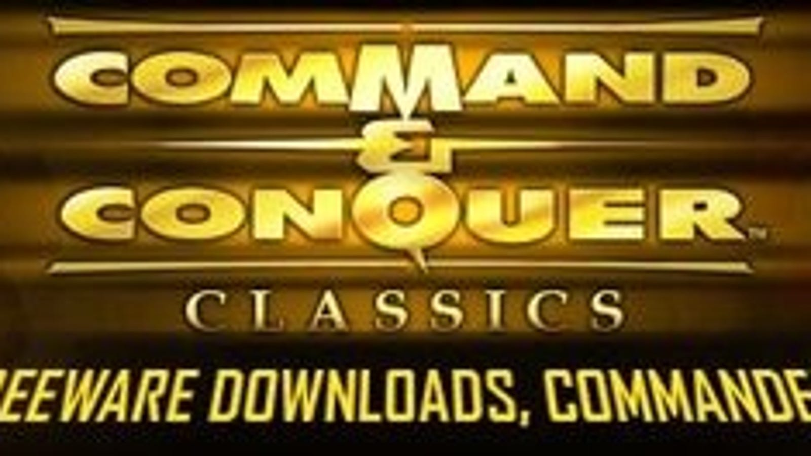 Three Original Command & Conquer Games are Now Free