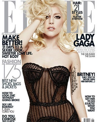 Illustration for article titled Behold: Lady Gaga On The January 2010 Cover Of Elle