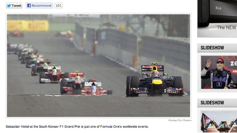 Illustration for article titled NBC Screws Up F1 Coverage Within First Minutes Of Having F1 Coverage