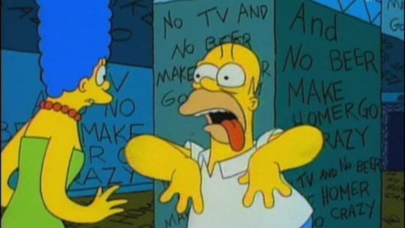 "Illustration for article titled ""No TV and no beer make Homer go crazy"": 14-plus alternate realities within television shows"