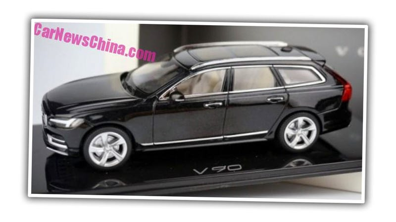 Illustration for article titled Volvo V90 Wagon Final Design Leaked Via Toy In China