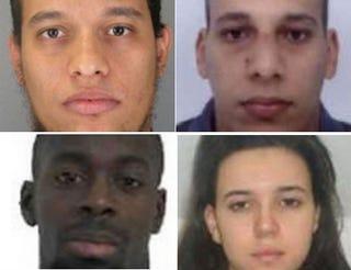 Clockwise from top left: Said and Cherif Kouachi; Hayat Boumeddiene;Amedy CoulibalyYouTube