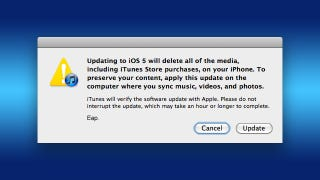 Illustration for article titled How to Update Your iPhone, iPad, or iPod touch on a New Computer Without Wiping Out All Your Data