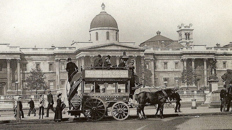 Illustration for article titled The World's First Bus Service Was Pulled by Horses