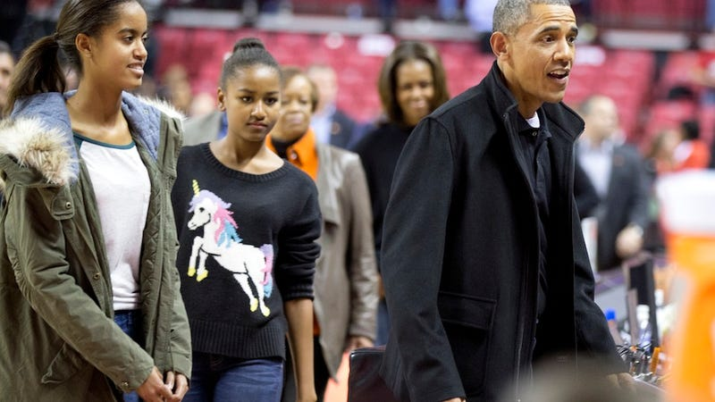 Illustration for article titled Sasha Obama Causes Nationwide Unicorn Sweater Shortage