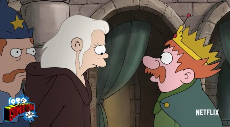 Disenchantment's rebellious daughter and royal father.