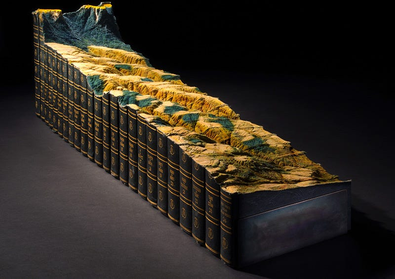Illustration for article titled This Intricate Landscape Is Carved Into the Encyclopedia Britannica