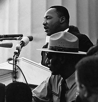 """Martin Luther King Jr. giving his """"I Have a Dream"""" speech during the March on Washington Aug. 28, 1963, in Washington, D.C.Wikimedia Commons"""