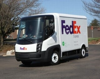 Illustration for article titled The Electric FedEx Truck Coming Soon To A Door Near You