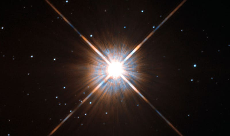 Proxima Centauri, our nearest neighboring star, as seen by Hubble. Image: Wikimedia