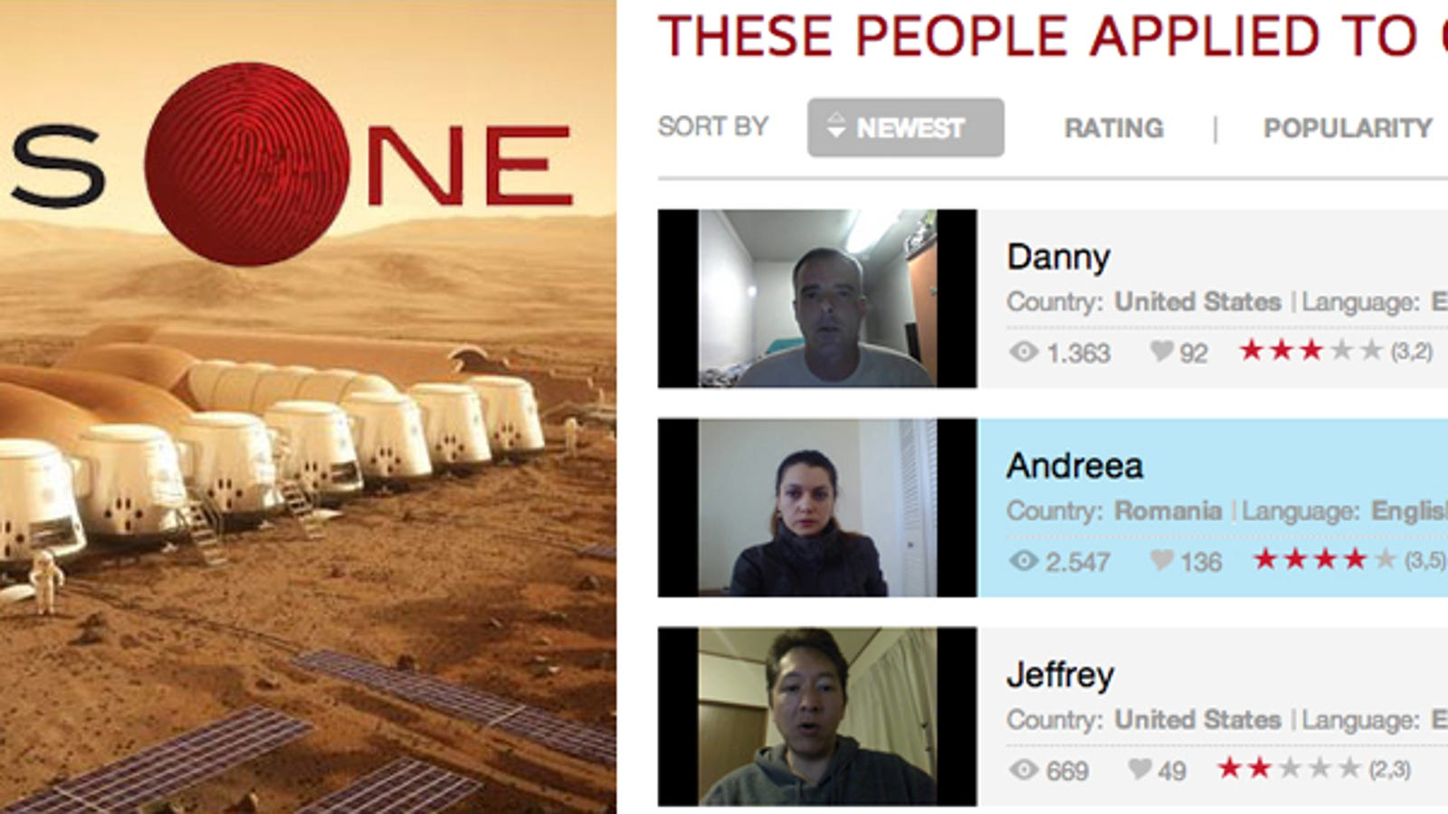 Los primeros voluntarios para viajar a Marte... y no volver