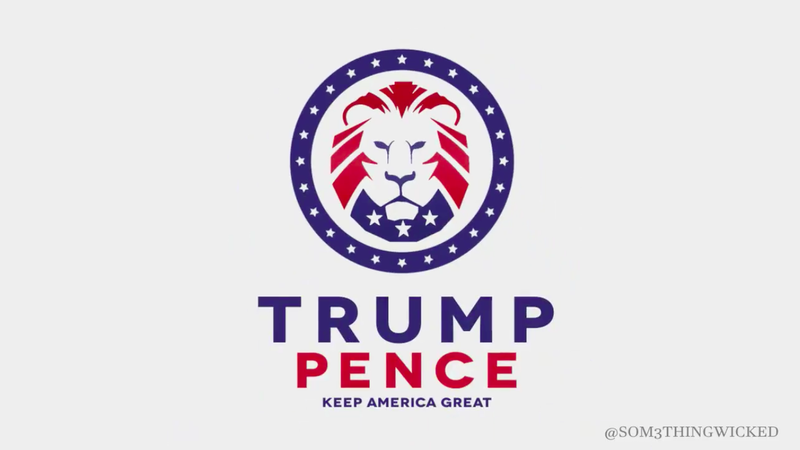 Illustration for article titled Trump's New 2020 Logo Sure Looks Like It Was Ripped Off From the White Nationalist Web