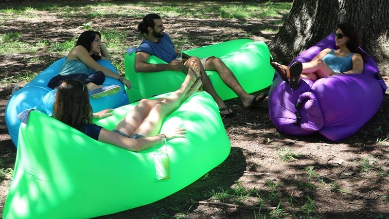 Twisted Root Inflatable Hammock, $40. Multiple colors available.