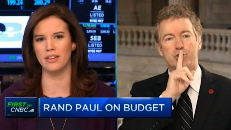 Illustration for article titled Rand Paul to Female TV Anchor: 'Shhhhh,' 'Calm Down'