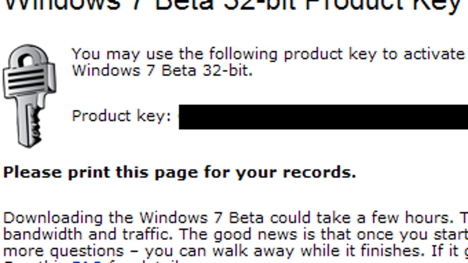 can you use an activation key instead of a product key for windows 7