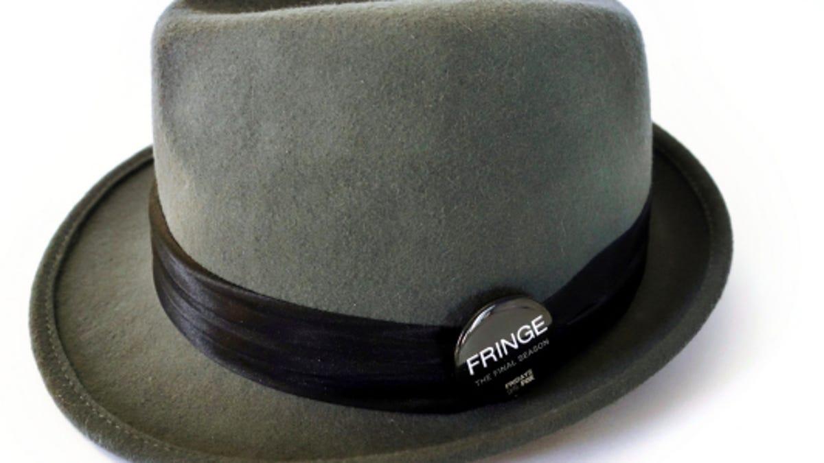 Observer Style Fedora Hat Jet Grey Fur Felt Fringe Michael Cerveris