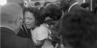 Mourners at the funeral for victims of 16th Street Baptist Church bombing (Burton McNeely/Getty Images)