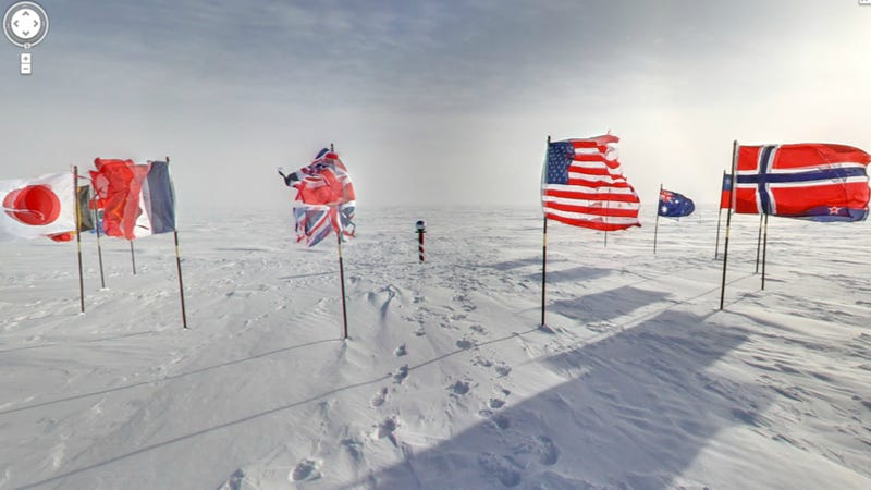 Illustration for article titled Breathtaking Google Street View Pictures of Antarctica (including the South Pole)