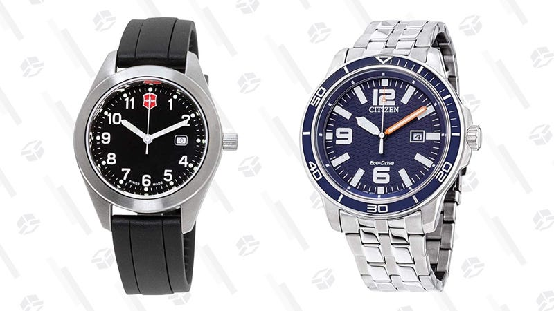Citizen Brycen Eco-Drive Movement Blue Dial Men's Watch | $100 | Amazon | Clip the $100 couponVictorinox Garrison Black Dial Silicone Strap Ladies Watch | $30 | Amazon | Clip the $40 coupon