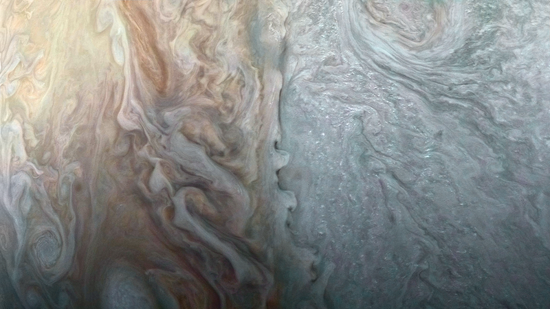 New Up-Close Image of Jupiter's Stormy Clouds is Mind-Blowing