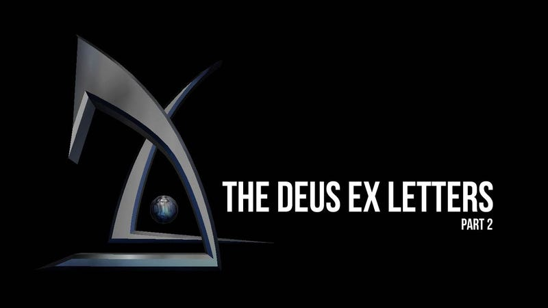 Illustration for article titled Sneaking, Soundtracks, and Riker-Porn: The Deus Ex Letters Continue