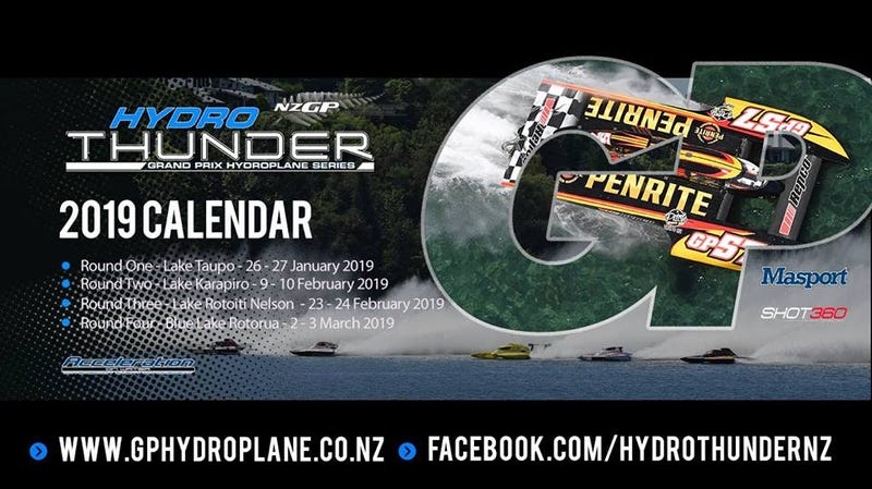 Illustration for article titled Lake Taupo - 2019 Hydro Thunder GP Hydroplane Series - Round 1 This Weekend