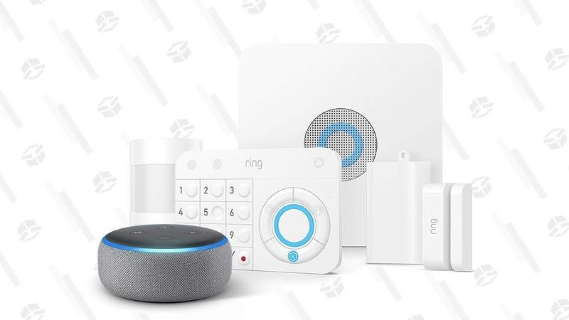 Sistema de seguridad Ring con cinco piezas + Echo Dot | $159 | AmazonGráfico: Shep McAllister