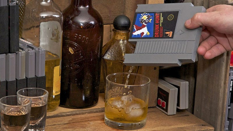 Illustration for article titled NES Cartridge Flasks Make Video Games Your Least Problematic Addiction