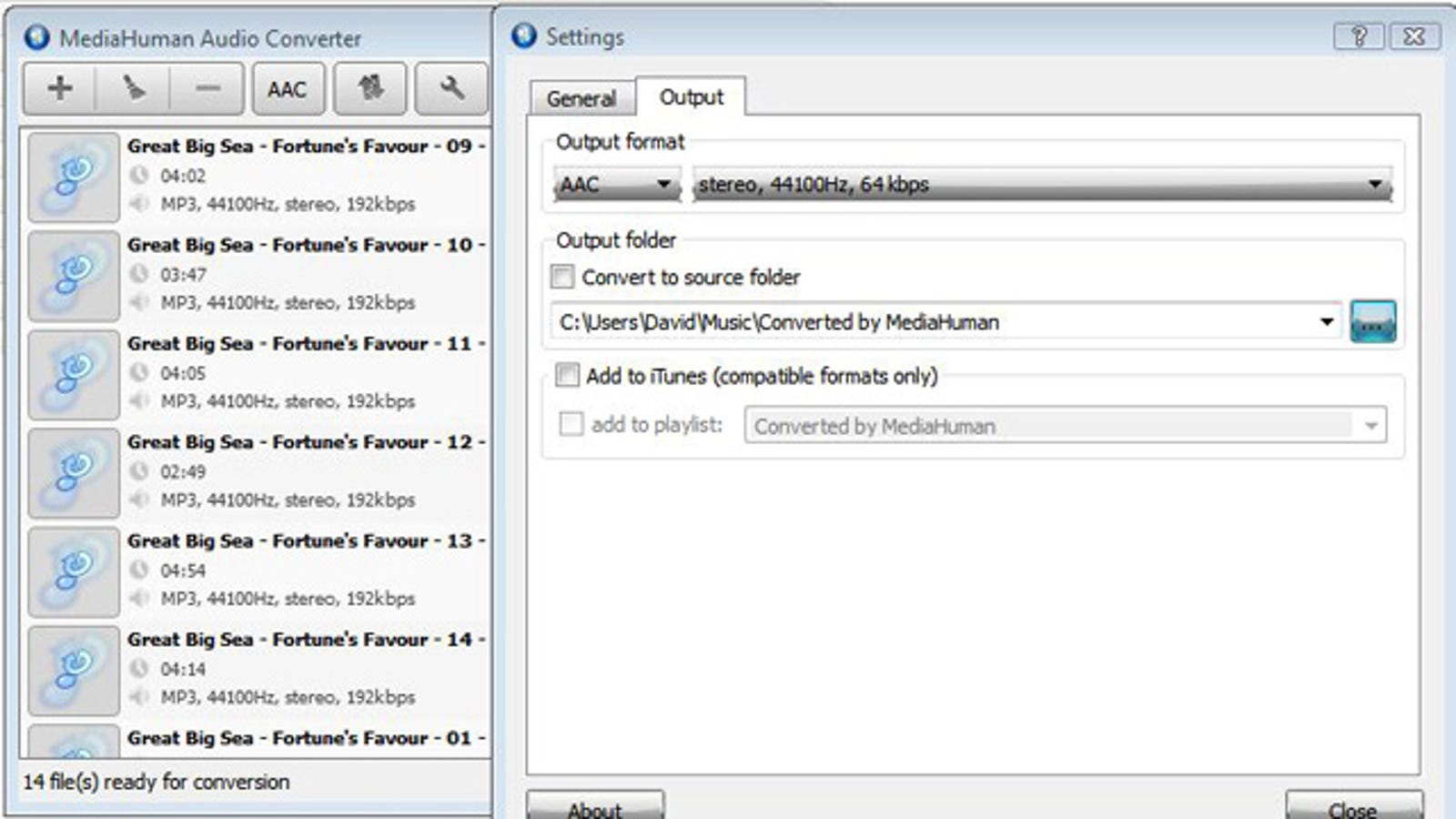 mp3 to aac converter software